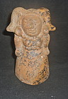 LARGE MAYA MOLDED HOLLOW FIGURE
