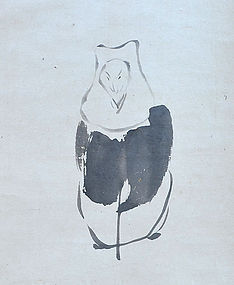 Hakuzosu Fox Spirit Scroll by Otagaki Rengetsu