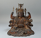 Additional Photo Superb Edo p BenzaiTen Buddhist Statue