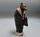 Takahashi Dohachi Hakuzoso Ceramic Sculpture, Fox