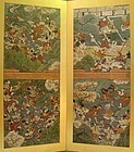 Exceptional Edo p. Japanese Screen, Demon War