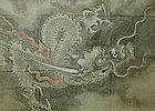 MASSIVE EDO p. DRAGON SCROLL, TERUHIRO, IVORY