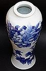 Large Japanese Sometsuke Porcelain Vase, Makuzu Kozan