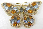 Beautiful Pave Crystal Butterfly Pin