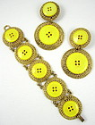 Patrick Kelly Paris Button Bracelet & Earrings