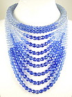 Fantastic Coppola e Toppo Blue Bead Bib Necklace