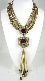Magnificent Maison Gripoix for Chanel Tassel Necklace