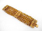 Luxurious Barbosa Yellow Crystal Beaded Bracelet