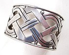 Unusual Hector Aguilar Mexican Silver Cuff Bracelet