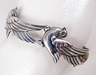 Los Castillo Mexican Silver Dove Bracelet and Earrings