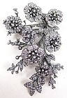 Breathtaking Jarin Kasi Sterling CZ En Tremblant Flower Bouquet Pin