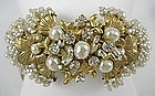 Spectacular Miriam Haskell Baroque Pearl Bracelet