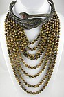 Valentino Garavani Snake Tiger Eye Runway Necklace