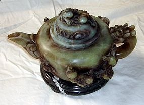 Antique Chinese Jade Tea Pot Han Style