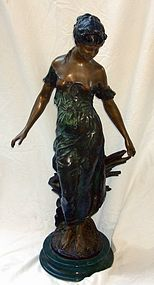 Antique French Bronze Sculpture Moreau 1834 � 1917