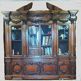 Bookcase Mahogany Centennial Buckingham Palace 19th C.