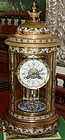 Antique Russian Champleve Cylinder Regulator Clock