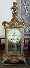 Antique Ansonia Clock Crystal Regulator