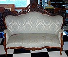 Antique Meeks Rosewood Sofa Couch Chairs 3 Piece