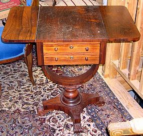 Antique English Rosewood Side Table Desk 19th C.