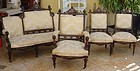 Antique Pottier & Stymus Attr. Sofa Chairs Rosewood