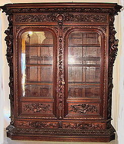 Antique Herter Bookcase Oak