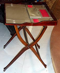 Antique Hermes Campaign Desk Mahogany Leather
