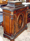 Antique Rosewood Cabinet Inlaid 19th C.