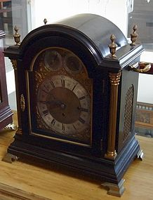 Antique English Fusee Bracket Clock 19th C.