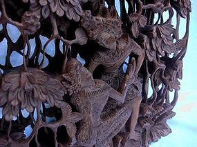 Antique Romantic Balinese Pierced Carving of Rama