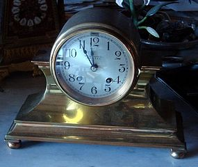 Antique Brass Chelsea Clock