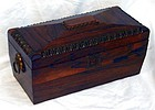 Antique English Regency Rosewood Tea Caddy 19th C.