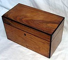 Antique English Sheraton Walnut Tea Caddy 18th C.