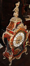 French Boulle Mantel Clock 19th C.