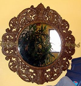 Antique Horner Walnut Mirror Carved 19th C.
