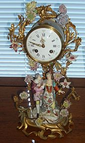 Antique Meissen Ormolu French Clock
