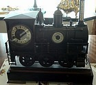 Antique Railroad Industrial French Clock