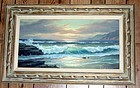 Oil Painting Anton Gutknecht 1907 - 1988 Seascape