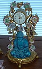 Antique Meissen Ormolu French Clock, Garnitures