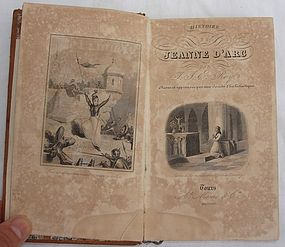 Antique leather book by Balzac in French 1875