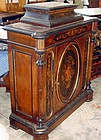Antique English Rosewood Inlaid Cabinet 19th C.