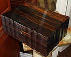 Antique English Coromandel Wood Box 19th C.