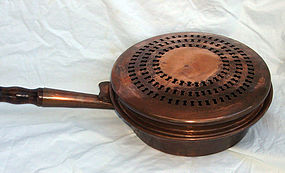 Antique Copper Bedwarmer