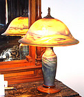 Antique Pairpoint Signed Seagull Lamp