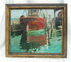 "Oil Painting Roger Hayward 1899 - 1979 ""Harbor"""