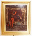 Oil Painting on Board Aldo Pagliacci