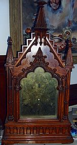Antique English Gothic Mantel Clock