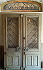 Antique French Oak Doors 18th C. & Overdoor