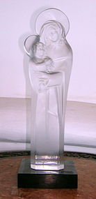 Lalique Clear Crystal Statue Signed