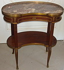 Antique Sormani French Ormalu Mahogany Marble Table